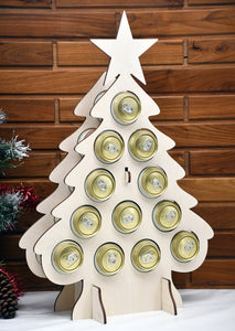 Tipsy Tree CAN tree beer can advent calendar beer can tree advent calendar