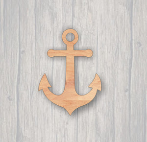 Anchor.  Unfinished wood cutout.  Wood cutout. Laser Cutout. Wood Sign. Sign blank. Ready to paint. Door Hanger.