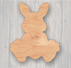 Bunny Feet. Wood cutout.  Laser Cutout. Wood Sign. Unfinished wood cutout. Sign blank. Ready to paint. Door Hanger.