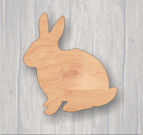 Bunny Rabbit. Wood cutout.  Laser Cutout. Wood Sign. Unfinished wood cutout. Sign blank. Ready to paint. Door Hanger. Easter