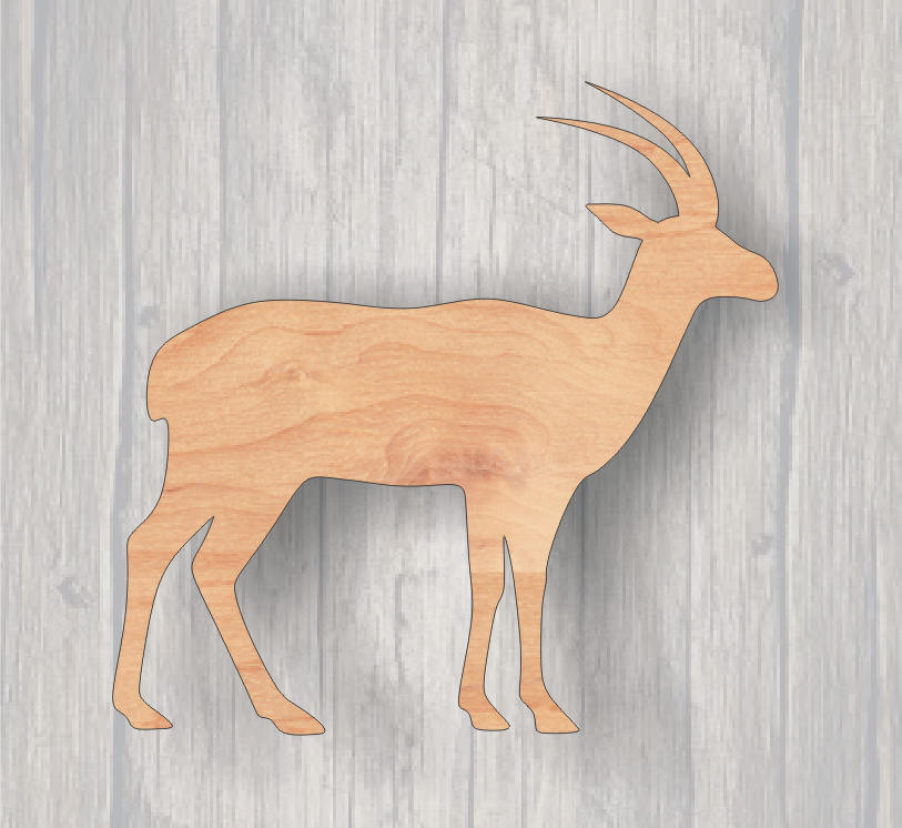 Antelope. Wood cutout.  Wildlife Cutout. Wood Sign. Unfinished wood cutout. Sign blank. Ready to paint. Door Hanger. Wildlife