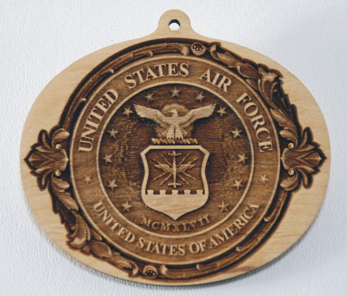 USAF Ornaments Military Ornament wooden ornament Air Force Ornament US Air Force wood ornament USAF Gift United States Air Force