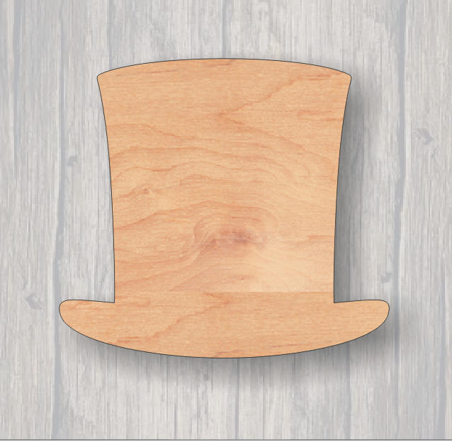 Abraham Lincoln's Hat. Wood cutout.  Unfinished wood cutout. Laser Cutout. Wood Sign. Sign blank. Ready to paint. Door Hanger.
