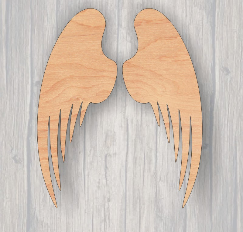 Angel Wings. Wood cutout.  Unfinished wood cutout. Laser Cutout. Wood Sign. Sign blank. Ready to paint. Door Hanger.