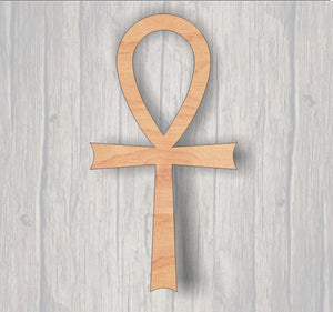 Ankh. Wood cutout. Laser Cutout. Wood Sign. Unfinished wood cutout. Sign blank. Ready to paint. Door Hanger. Egyptian symbol
