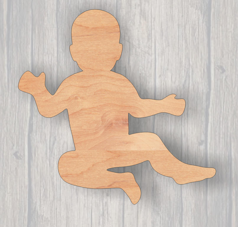 Baby. Wood cutout.  Laser Cutout. Wood Sign. Unfinished wood cutout. Sign blank. Ready to paint. Door Hanger. Wreath accent
