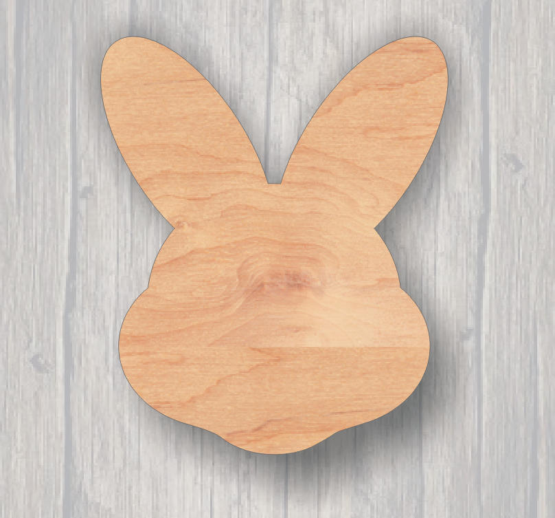 Easter Bunny Face. Rustic Wood Sign. Farmhouse Decor Sign. Laser Cutout. Wood Sign. Unfinished Sign. Custom Sign. Custom Cutout.