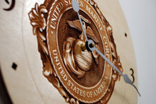 Load image into Gallery viewer, USMC 3D engraved Clock
