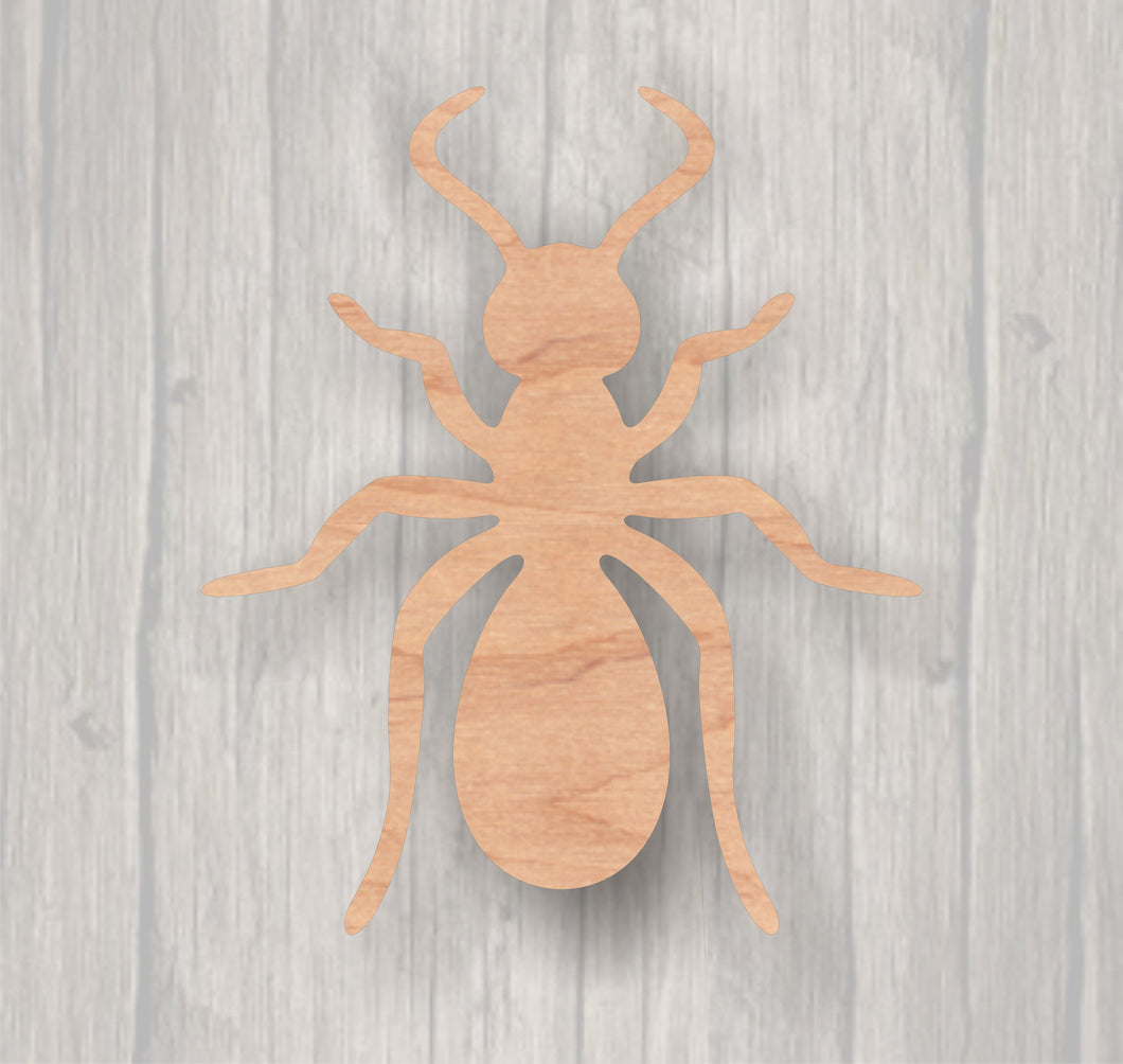 Ant. Unfinished wood cutout Wood cutout. Laser Cutout. Wood Sign. Sign blank. Ready to paint. Door Hanger. Insect. Picnic.