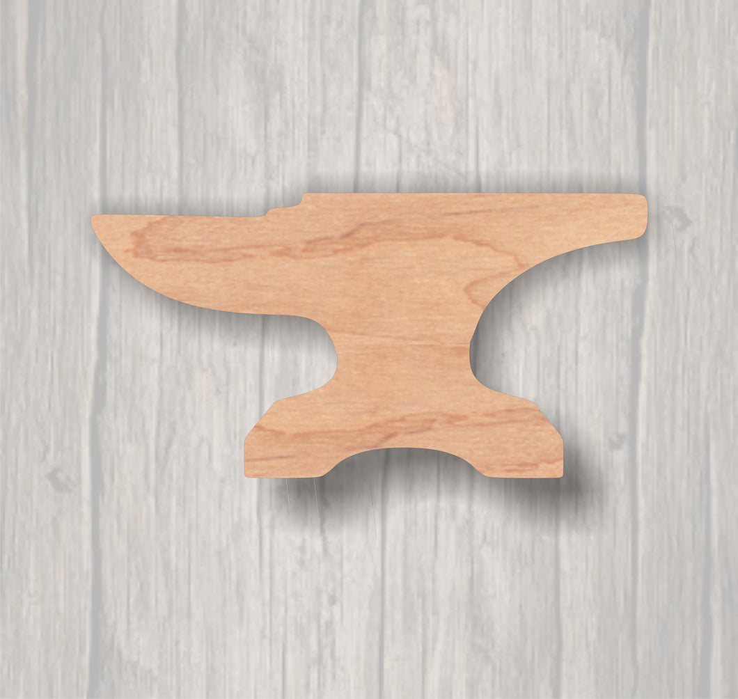 Anvil. Unfinished wood cutout.  Wood cutout. Laser Cutout. Wood Sign. Sign blank. Ready to paint. Door Hanger. Tools. Shop