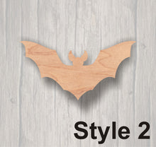 Load image into Gallery viewer, Bat. Laser Cutout. Wood Sign. FREE SHIPPING, Unfinished Sign. Wood Cutout. Laser Cutout. Halloween decoration,