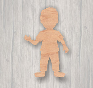 Boy. Unfinished wood cutout.  Wood cutout. Laser Cutout. Wood Sign. Sign blank. Ready to paint. Door Hanger.