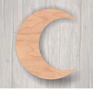 Crescent Moon. Unfinished wood cutout. Wood cutout. Laser Cutout. Wood Sign. Sign blank. Ready to paint. Door Hanger.
