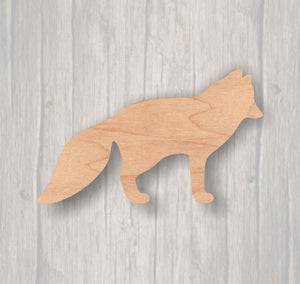 Arctic Fox. Unfinished wood cutout.  Wood cutout. Laser Cutout. Wood Sign. Sign blank. Ready to paint. Door Hanger. Wildlife