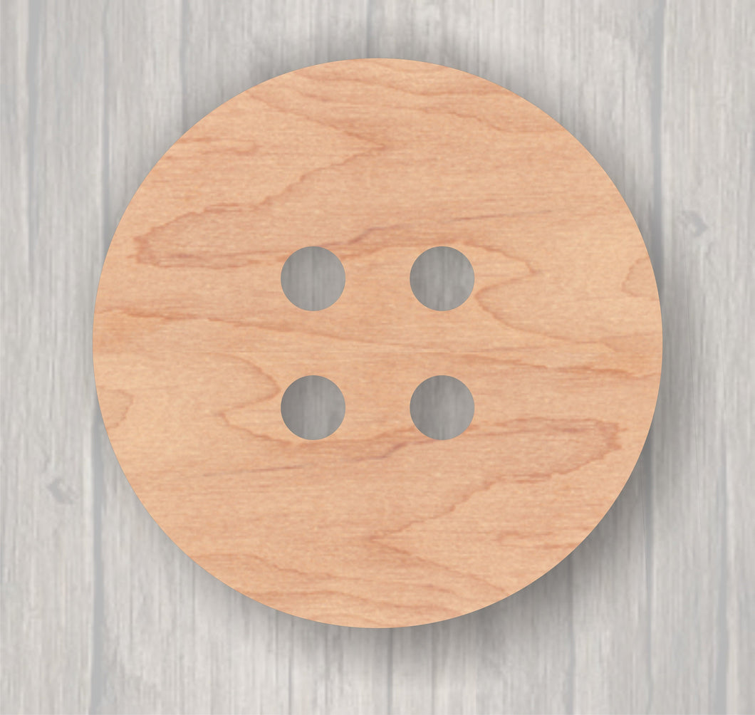 Button.  Unfinished wood cutout.  Wood cutout. Laser Cutout. Wood Sign. Sign blank. Ready to paint. Door Hanger.