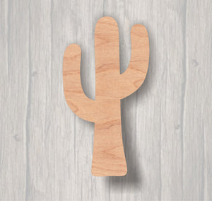 Cactus. Unfinished wood cutout.  Wood cutout. Laser Cutout. Wood Sign. Sign blank. Ready to paint. Door Hanger.
