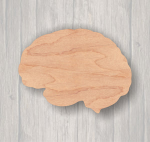 Brain.  Unfinished wood cutout.  Wood cutout. Laser Cutout. Wood Sign. Sign blank. Ready to paint. Door Hanger.