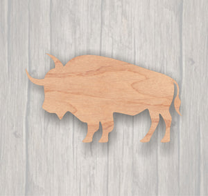 Buffalo.  Unfinished wood cutout.  Wood cutout. Laser Cutout. Wood Sign. Sign blank. Ready to paint. Door Hanger. Wildlife