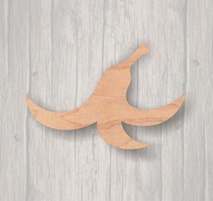 Banana Peel.  Unfinished wood cutout.  Wood cutout. Laser Cutout. Wood Sign. Sign blank. Ready to paint. Door Hanger.