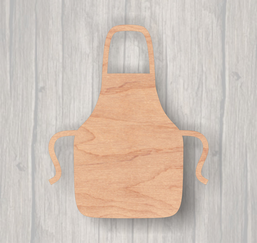 Apron.  Unfinished wood cutout.  Wood cutout. Laser Cutout. Wood Sign. Sign blank. Ready to paint. Door Hanger.