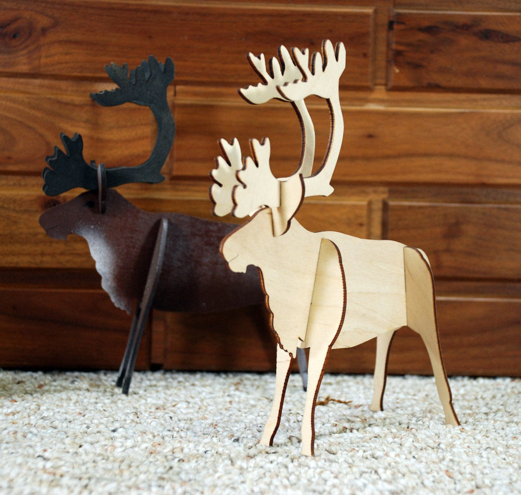 Reindeer Kit.  Unfinished wood cutout.  Wood cutout. Laser Cutout. Wood Sign. Sign blank. Ready to paint. Door Hanger.