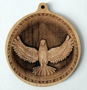 3D Wood Ornaments Dove Ornament wooden ornament  Laser Engraved
