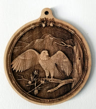 Load image into Gallery viewer, 3D Wooden Ornament Eagle in Tree Ornament wood ornament laser ornament
