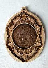 Load image into Gallery viewer, Carved Wooden Frame Ornament Wood Frame ornament Laser Engraved