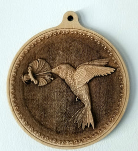 3D Wooden hummingbird Ornament Hummingbird Laser Engraved