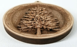 3D Wooden Pine tree Ornament Pine Tree Laser Engraved ornament