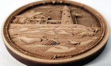 Load image into Gallery viewer, Cape Cod Lighthouse Ornament Wooden Ornament Cape Cod Ornament Laser Engraved
