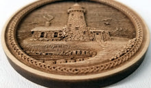 Load image into Gallery viewer, 3D Wooden lighthouse Ornament Great Lakes Lighthouse Laser Engraved
