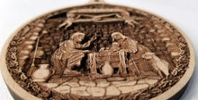 Load image into Gallery viewer, 3D Wooden Nativity Ornament Nativity Creche ornament Laser Engraved