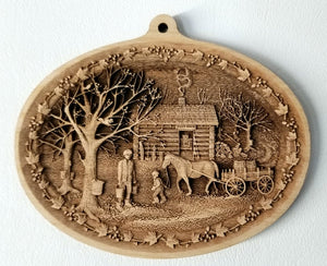 3D Wooden Ornament Maple Sapping Maple syrup Laser Engraved wood ornament