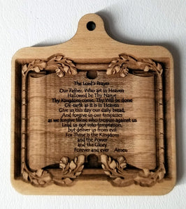 Wood Ornament Lord's Prayer Ornament bible text bible ornament Laser Engraved
