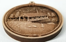 Load image into Gallery viewer, 3D Wooden Ornament Covered Bridge Ornament wood ornament Laser cut ornament