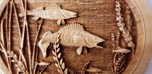 3D Walleye Ornament wood Walleyes Ornament Laser Engraved Ornament
