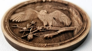 3D Wooden Ornament Eagle in Tree Ornament wood ornament laser ornament