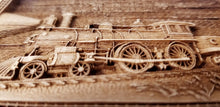 Load image into Gallery viewer, Steam Train 3D Ornaments Train Ornament wooden steam train ornament Locomotive ornament Laser Engraved