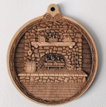 Load image into Gallery viewer, Fireplace Wooden Ornament Fireplace ornament Laser Engraved wood ornament