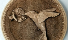 Load image into Gallery viewer, 3D Wooden hummingbird Ornament Hummingbird Laser Engraved