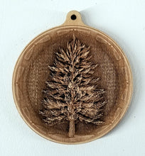 Load image into Gallery viewer, 3D Wooden Pine tree Ornament Pine Tree Laser Engraved ornament