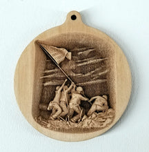 Load image into Gallery viewer, 3D Wooden Iwo Jima commemorative Ornament Iwo Jima Laser Engraved Ornament