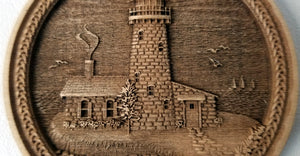 3D Wooden lighthouse Ornament Great Lakes Lighthouse Laser Engraved