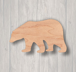 Polar Bear. Unfinished wood cutout. Wood cutout. Laser Cutout. Wood Sign. Sign blank. Ready to paint. Door Hanger.