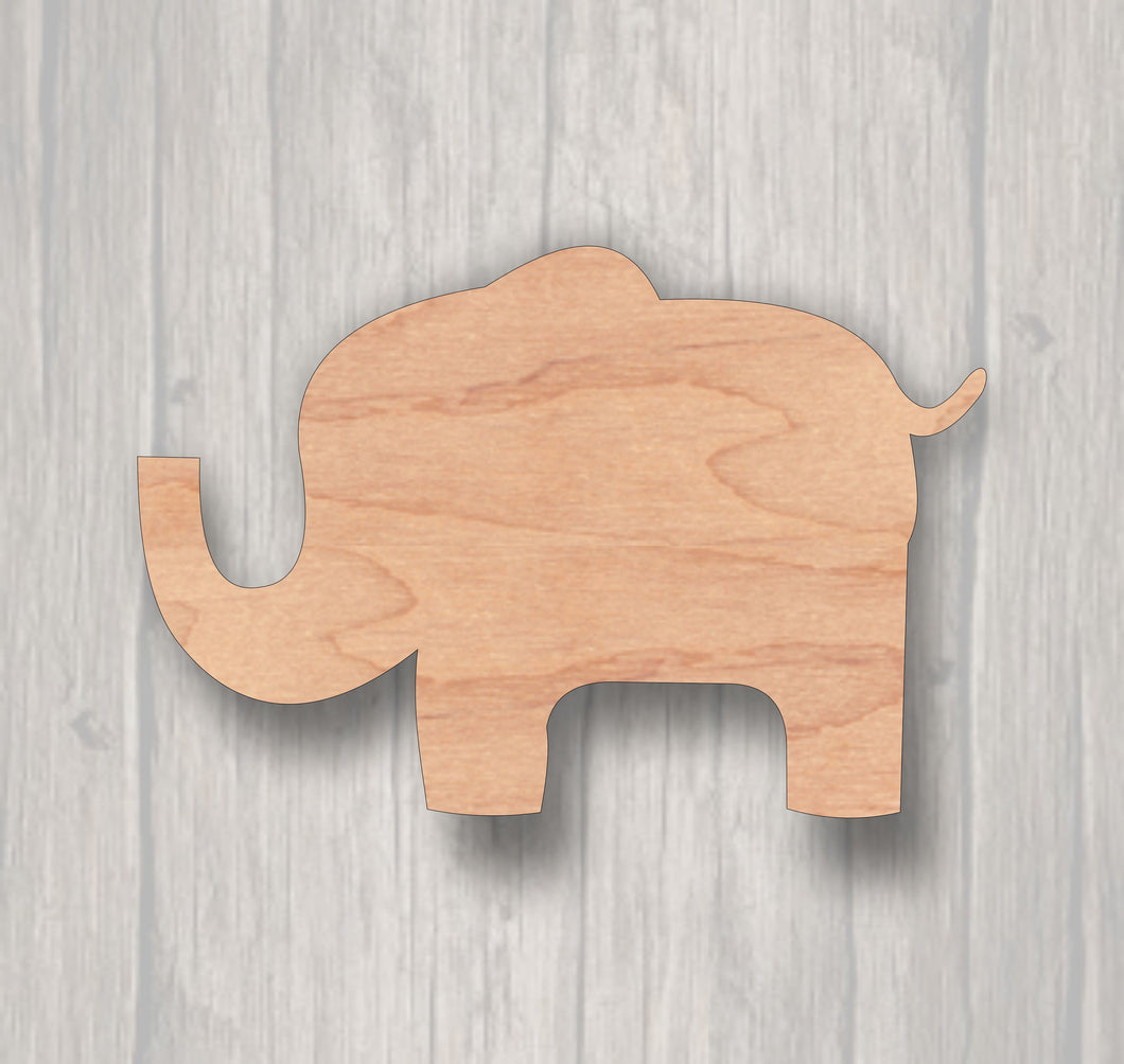 Baby Elephant. Unfinished wood cutout. Laser Cutout. Wreath Accent. Wood cutout. Wood Sign. Sign blank. Ready to paint. Door Hanger.