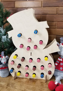Buzz the Snow Man Mini Wine Bottle Advent Calendar