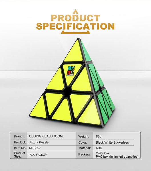MoYu Cubing Classroom Meilong Pyraminx Magic Cube Stickerless