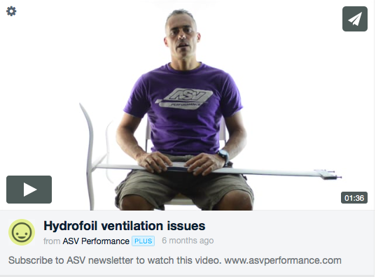 Hydrofoil Ventilation Issues