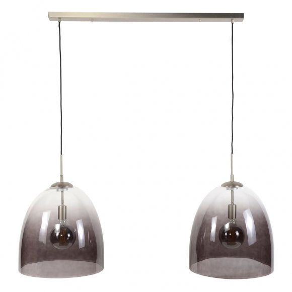 Hanglamp 2xØ40 shaded ovaal glas